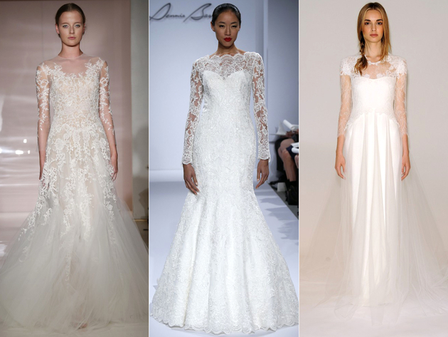 embedded_lace_sleeve_bridal_dress_trends_2014