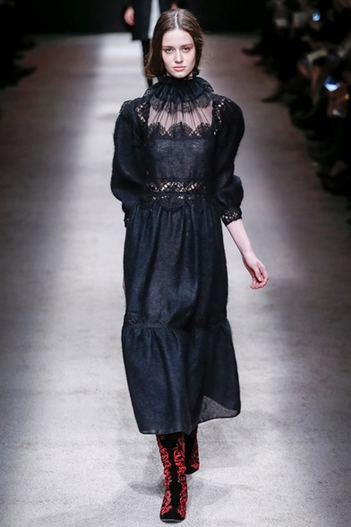 Alberta Ferretti 2016 black dress