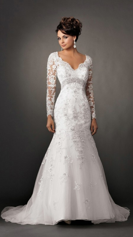 V Neckline wedding dress 2016