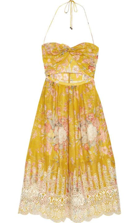 yellow boho dress