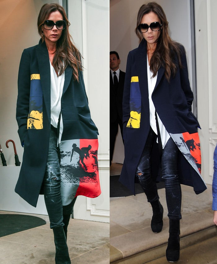 Victoria Beckham leaving her Mayfair store on Dover Street Featuring: Victoria Beckham Where: London, United Kingdom When: 18 Sep 2015 Credit: WENN.com