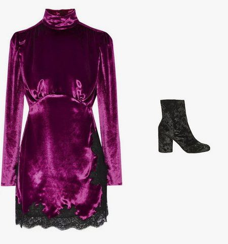 cool velvet evening dress