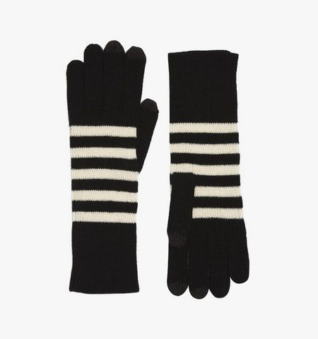 black and white fall knit accessories