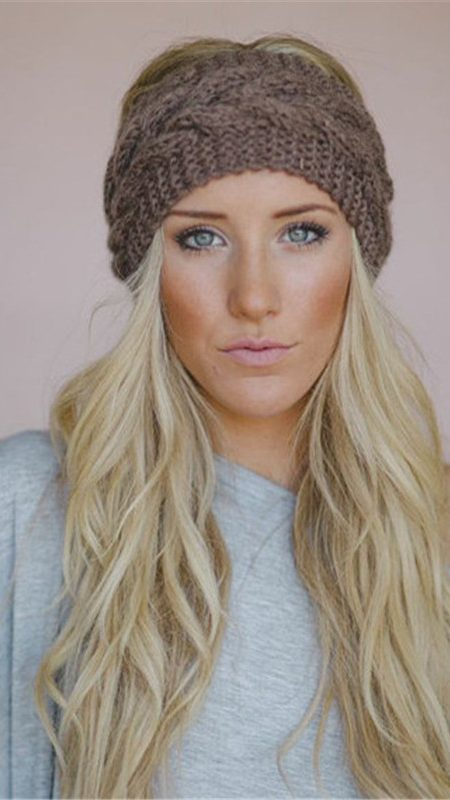 font knitted headbands