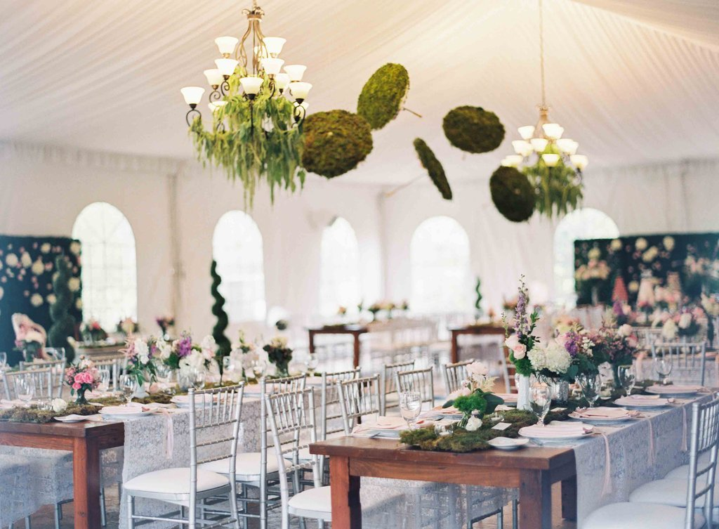 Floral Chandeliers wedding decor trands