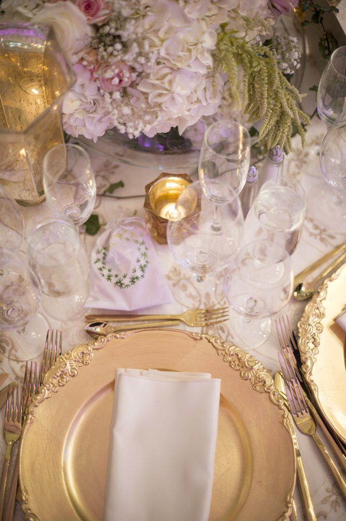 Metallic Flatware wedding decor